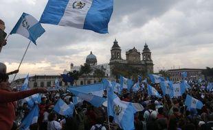 Manifestation devant le Parlement du Guatemala le 1er septembre 2015.