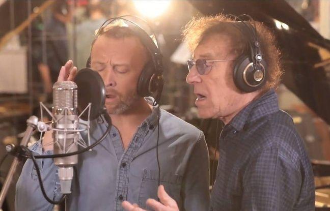 Pierre et Alain Souchon, lors de l'enregistrement de «Perds pas l'Nord».