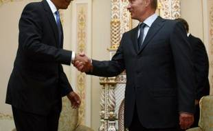 Barack Obama et Vladimir Poutine le 7 juillet 2009 à Moscou