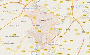 La ville du Mans dans la Sarthe.