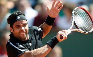 Le tennisman Fernando Gonzalez, lors sa victoire à Roland-Garros, face à Victor Hanescu, le 31 mai 2009.