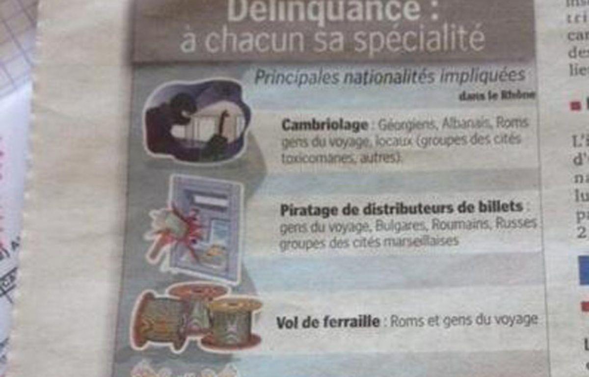 Extrait de l'infographie publiée par «Le Progrès» ce mardi 22 avril 2014. – Anne Demoulin/20 Minutes