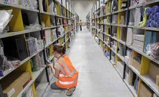 La plateforme logistique de Amazon, géant americain de la vente sur le web à Lauwin-Planque, le 18 novembre 2013.