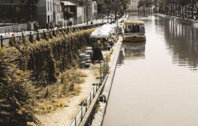 Vue extérieure du Barboteur amaré au 140 quai de Jemmapes