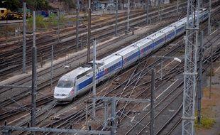 Illustration.TGV entre Paris et Strasbourg.Le 13 10 2009