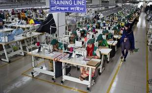 Une usine de textile au Bangladesh.
