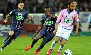 Saber Khlifa, l'attaquant tunisien d'Evian, le 17 avril 2013 contre le PSG à Annecy.