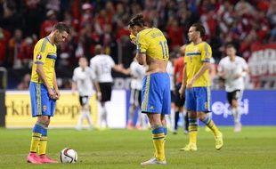 Zlatan Ibrahimovic et la Suède ont craqué contre l'Autriche (1-4), le 8 septembre 2005.