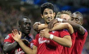 Les joueurs de Lille, lors de leur victoire contre Copenhague en tour préliminaire de Ligue des champions, le 29 août 2012 à Lille.