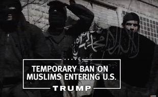 Capture d'écran du premier spot télévisuel de Donald Trump.