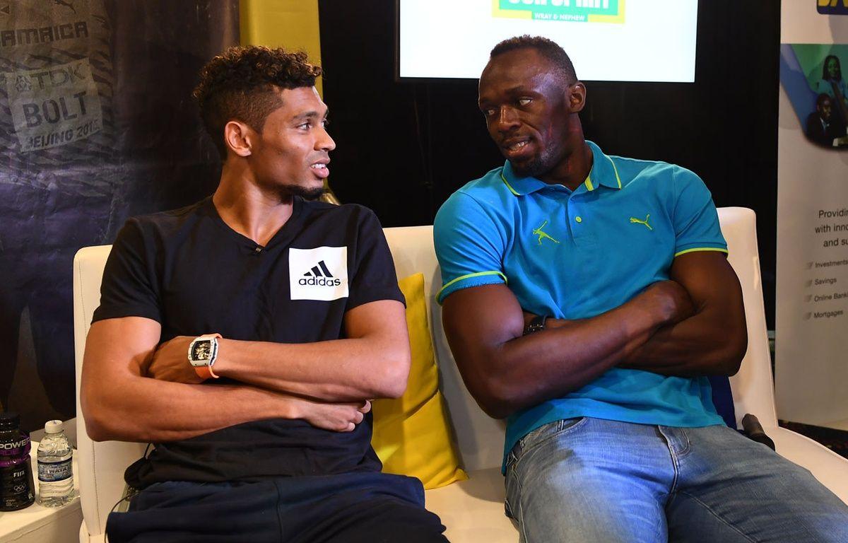 Wayde van Niekerk et Usain Bolt, la passation de pouvoir assurée – JEWEL SAMAD / AFP
