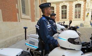 Toulouse, le 16 décembre 2014 - Présentation de la nouvelle brigade d'intervention rapide de la police municipale.