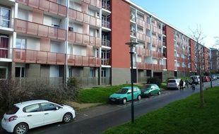 Des logements sociaux dans le quartier de Maurepas à Rennes.