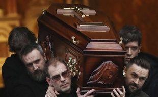 Le cercueil de Dolores O'Riordan à Limerick, le 21 janvier 2018.