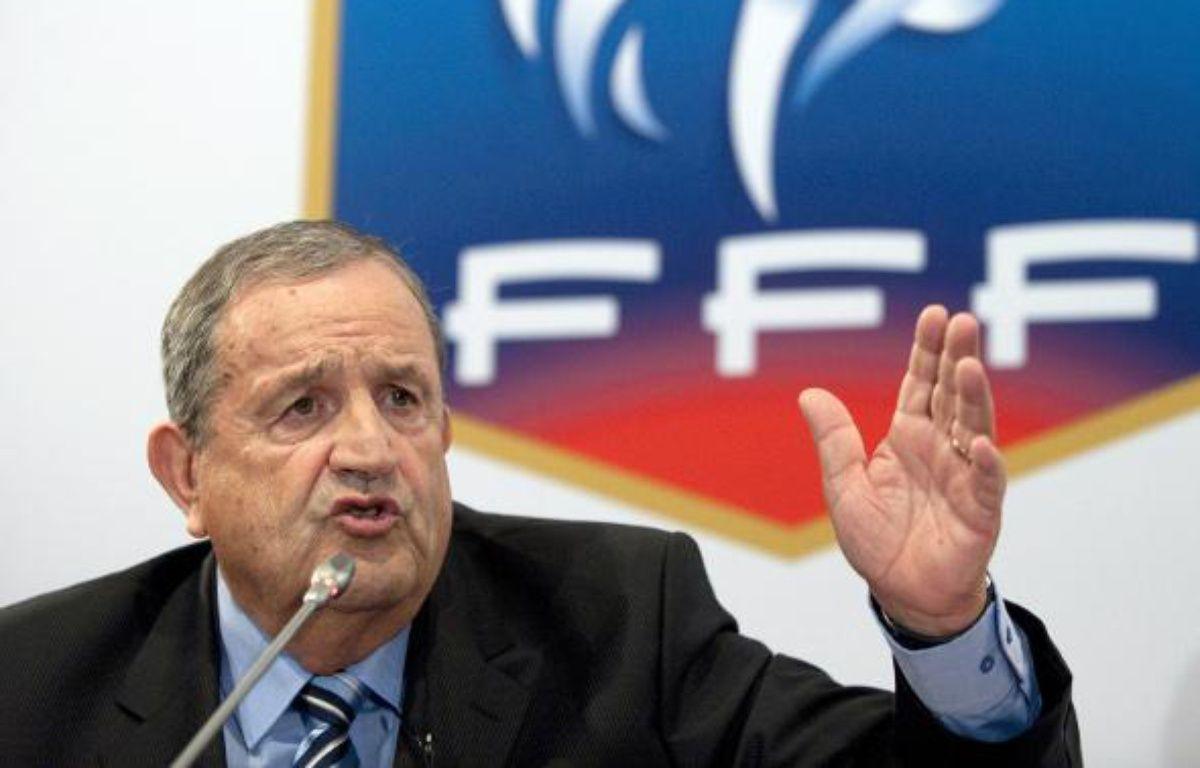 Le président de la fédération française de football, Fernand Duchaussoy, le 23 juillet 2010. – B.Langlois/AFP