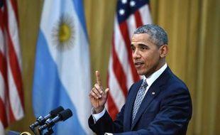 Le président des Etats-Unis Barack Obama à Buenos Aires, le 23 mars 2016