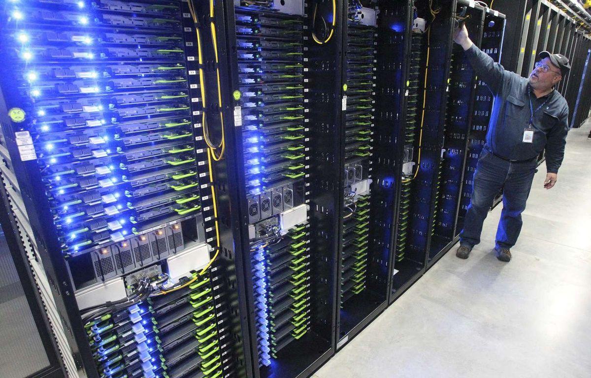 """Un centre de données (ou """"data center"""") utilisé par Facebook aux Etats-Unis.  – Andy Tullis/AP/SIPA"""