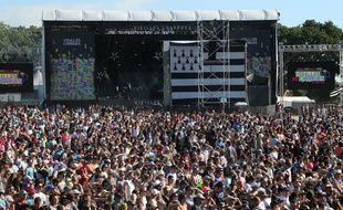 Le public des Vieilles Charrues, ici le vendredi 15 juillet, à l'occasion des 25 ans du festival.