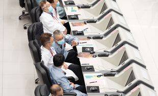Le centre de contrôle de l'agence spatiale chinoise à Pékin.