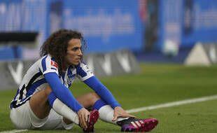 Mattéo Guendouzi s'est blessé lors du match entre le Hertha Berlin et Fribourg, jeudi soir.