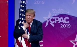 Donald Trump lors d'une conférence, en 2019.