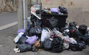 Dans le 16e arrondissement de Marseille, pendant la grève (Photo d'illustration).