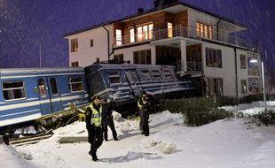 Le 15 janvier, un train a fini sa course dans une résidence de Saltsjoebaden en Suède.