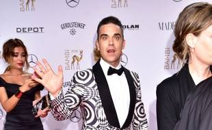 Le chanteur Robbie Williams aux Bambi Awards 2017.