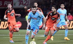 André-Pierre Gignac lors du match Lorient-OM (1-1) le 2 décembre 2014 au Moustoir.