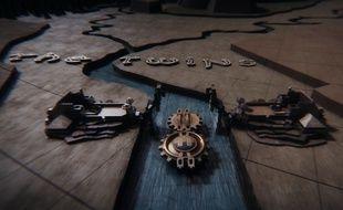Image extraite du générique de «Game of Thrones»