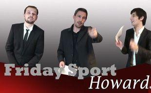 Capture d'écran de la cérémonie des Friday Sport Howards 2010.