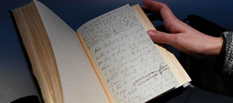 Une copie annotée du manuscrit de «Du côté de chez Swan», de Marcel Proust.