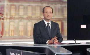 François Hollande lors du débat télévisé le 2 mai 2012