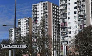 Le quartier de Pontanézen, au nord de Brest.
