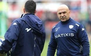 Laurent Travers (de face) et Laurent Labit, les deux coachs du Racing 92.