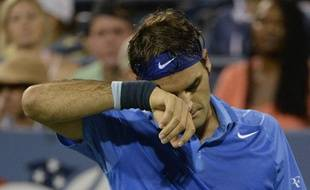 Le Suisse Roger Federer lors de son élimination à l'USOpen, le 2 septembre 2013.