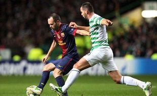 Le Barça d'Iniesta battu par le Celtic de Ledley, le 7 novembre 2012 à Glasgow