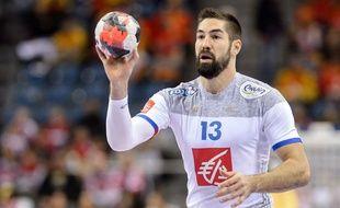 Nikola Karabatic lors du match entre la France et la Serbie le 17 janvier 2016.