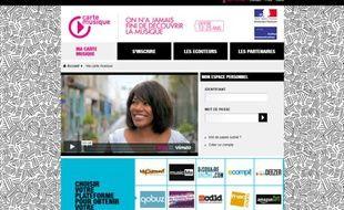 Le site officiel de la Carte musique jeune.