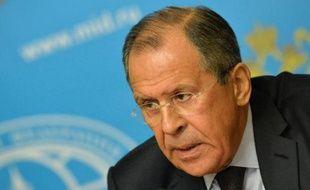 Le ministre russe des Affaires étrangères Sergueï Lavrov, le 25 août 2014 à Moscou