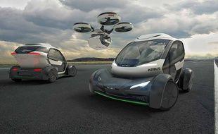 Pop.Up, le véhicule du futur d'Airbus et Italdesign a été dévoilé le 7 mats 2017 lors du salon automobile de Genève.