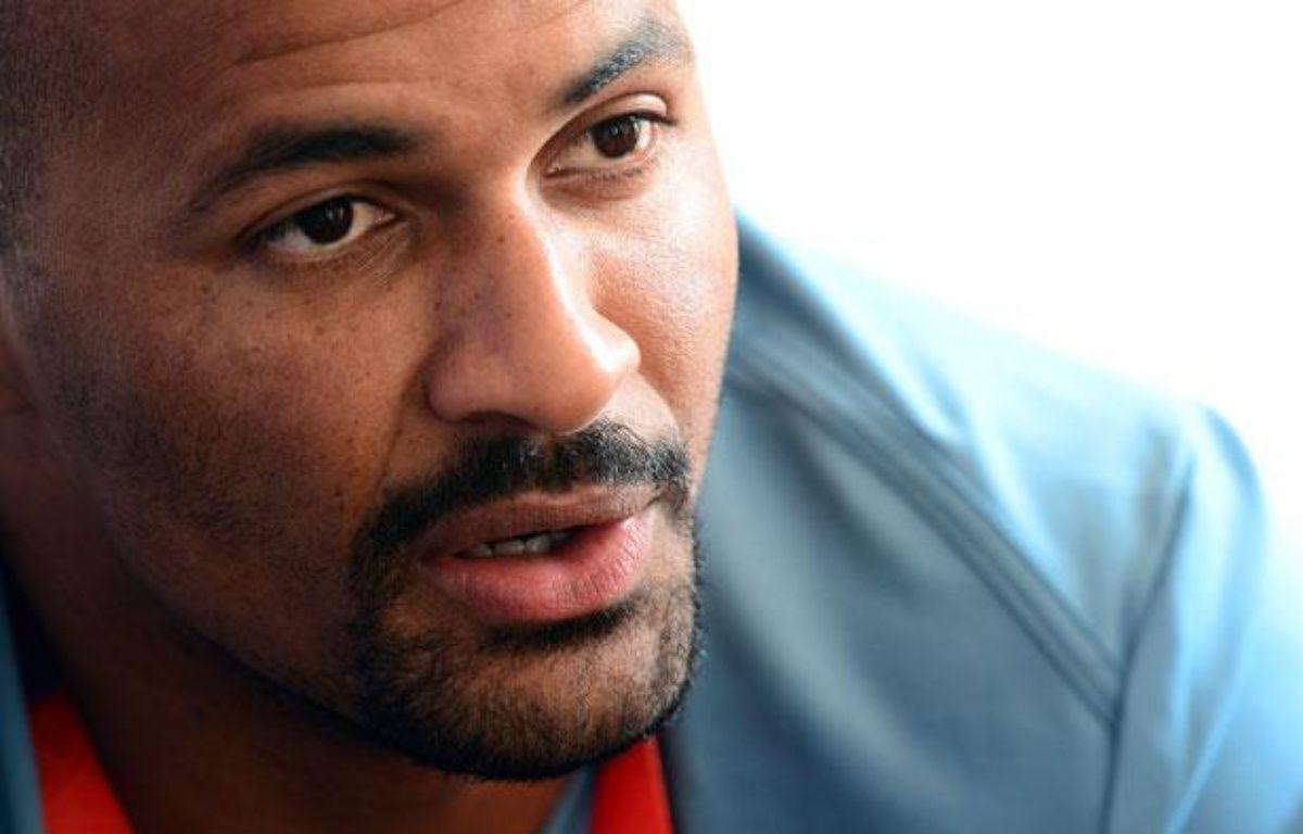 Le handballeur français Didier Dinart, le 26 juillet 2012, auClub France, à Londres. – FRANCK FIFE / AFP