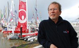 Le docteur Jean-Yves Chauve, responsable de la santé des marins du Vendée Globe, aux Sables d'Olonne, avant le départ de l'édition 2008.