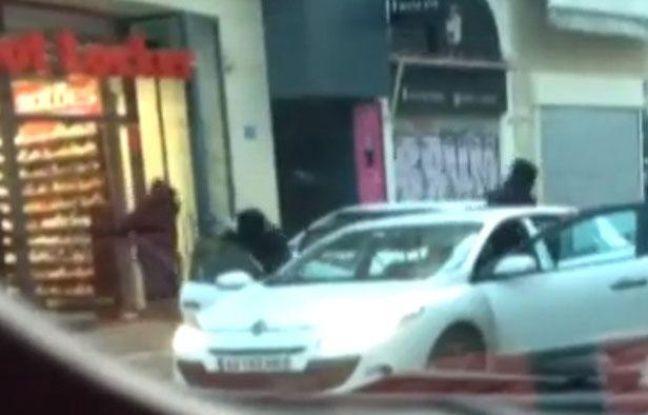 Braquage filmé en direct passant Marseille, Foot locker, 10 janvier 2013