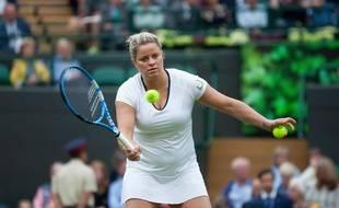 Kim Clijsters ici lors d'un tournoi exhibition à Wimbledon en mai 2019, a annoncé vouloir revenir à la compétition en 2020.