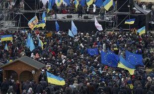 Des manifestantsà Kiev, en Ukraine, le 2 décembre 2013.