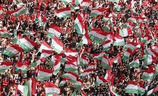 Les supporters hongrois.