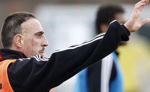 Franck Ribéry pendant une séance d'entraînement du bayern Munich, le 10 novembre 2010.