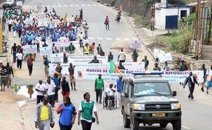 Des manifestants contre Boko Haram à Douala le 7 février 2015