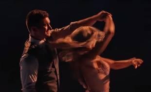 Alek Skarlatos, un des «héros du Thalys», dans un foxtrot dans  «Danse avec les stars» aux Etats-Unis, le 14 septembre 2015.